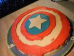 Captain America cake by Loo-Sea