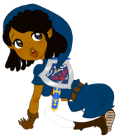 Chibi Aminah Commission: Link Style by guillmon9005