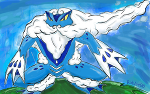 Froaking froakie's final evolution by roblee96