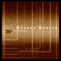 Thin Grunge Border Brushes by DieheArt