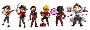 class chibis Team Fortress 2 by CalliopeCloudCat