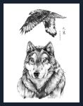 .: Eagle : Wolf :. by ravenwing136
