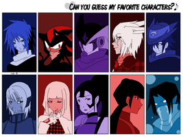 Guess my favourite characters by DeepestSilence