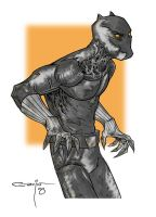 Black Panther by pencil-ambush