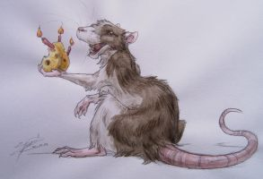 Birthday rat by Karrakas