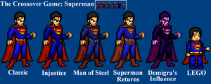 Superman Sprites by LeeHatake93