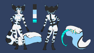 Female Blue Mouth Tail Adoptable -Closed- by Da-Mushroom