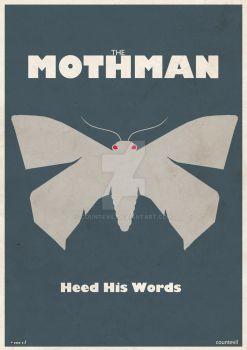 Mothman Poster by countevil
