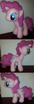 Pinkie Pie: My Plush 100% Hoofmade (except Eye/CM) by Wildfox101