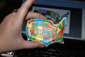 United States Sugar Cookie (don't count states lol by picworth1000wrds