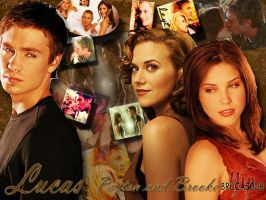 lucas brooke and peyton by brucas