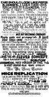 My Favourite Fonts by thelast1uthinkof
