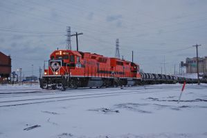 out in the cold with a hot train by JDAWG9806