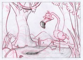 Layout Rough - Flamingo by AlexanderHenderson