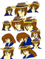 Faces of Valliard Rosenhill (colored) by Omega-Killer