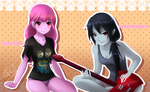 Adventure Time: Marceline x Bubblegum by KanraKami