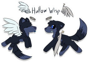 Hollow Wisp Reference sheet by CleverConflict