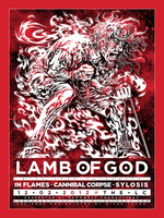 Screenprint: Lamb Of God @ The LC by milestsang