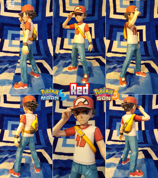 Pokemon Sun and Moon Papercraft ~ Red ~ by SuperRetroBro