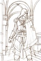 AC: Ezio sketch by atomic-cocktail