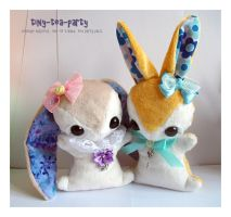 Idae and Myrtle - Teacup Bunny Commissions by tiny-tea-party