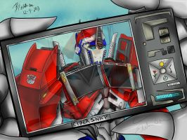 Say Cheese Optimus! by Lady-Elita-1