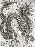 Dragon in Pencil again by OhioErieCanalGirl