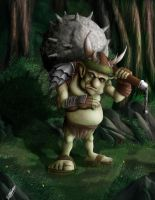 Troll in the forest by curi222