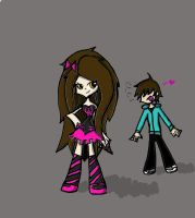 me and big alex {Panty and stocking style} by co-nay