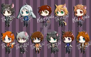 Kemonomimi adoptables (Open 1/11, and offer! XD) by Pixie-van-Winkle