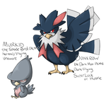 Contest: Murkrow Family by crossedstar