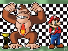 DK and Mario by WhyDesignStudios
