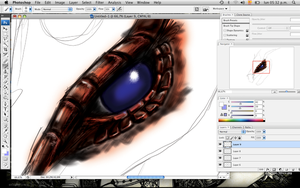 Dragon Eye esketch by Kundu