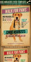 Dog Walkers Flyer Template 2 by Hotpindesigns
