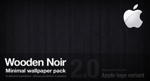 Wooden Noir 2.0 - Apple Logo by shod4n