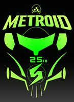 Metroid 25th Anniversary Logo by FireBall-Stars