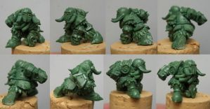 Chaos Dwarf 6 - WILLY MINIATURES by Serg-Natos