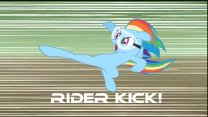Rainbow Dash Rider Kick by Axel-The-hedgehog-93