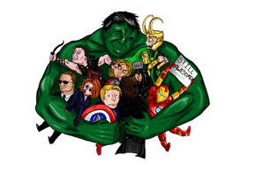 Commission: Adorable Avengers by The-Nightmare-Doctor