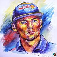 Portrait of Max Verstappen #4 by lazy-brush