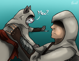 Altair and Cat by Quiell