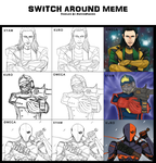 Heroes and Villains Switch Around Meme by Omega-valeth-sama