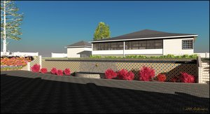 Country Cottage, Rear Elevation and Lower Terrace by jbjdesigns