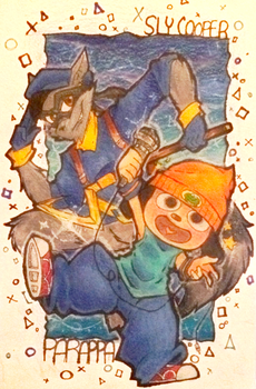 Parappa and Sly by GeekyKitten64