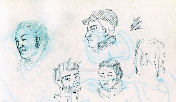 Subway sketches by Wysto