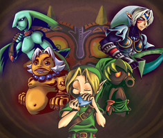 The curse of Majora's Mask by princessdabby