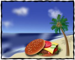 Cheeseburger in Paradise by christinee