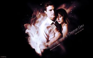 Christian Grey and Anastasia Steele Shades Of Grey by SarahZwerg