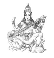 Saraswati by jayfrench