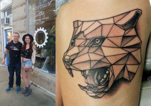 Ashley's Polygon Tiger by Sirius-Tattoo